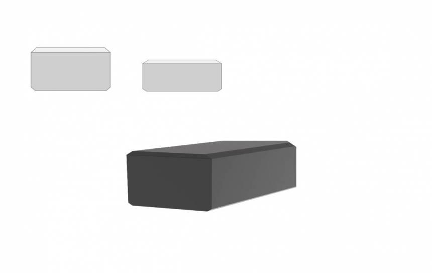 Rubber stootblokken met UHMWPE toplaag