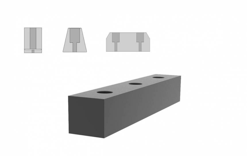 Rubber stootblokken op maat gemaakt