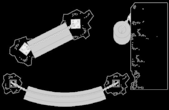 Cilindrisch fender tekening mounting
