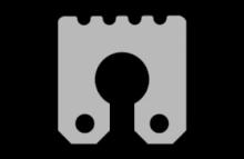 Keyhole rib size standard